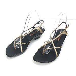 Donald J Pliner Chava Thong Metallic Sandal US 9 M